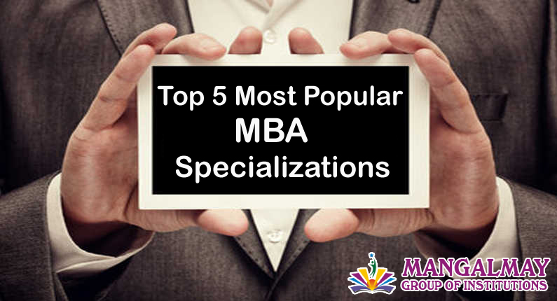 top 5 most popular MBA specialization