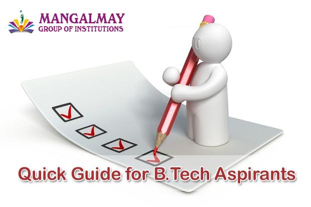 Quick Guide for B.Tech Aspirants