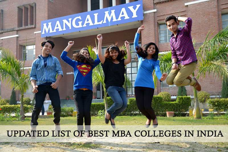 Updated list of Best MBA Colleges in India